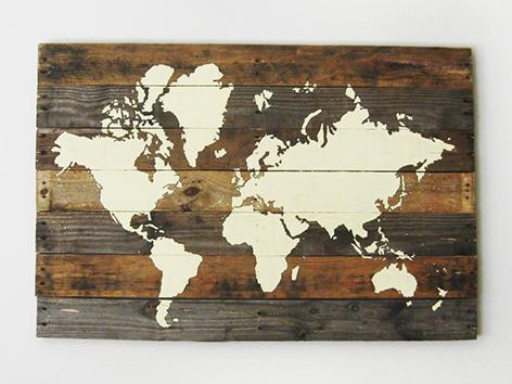world-map-on-pallet